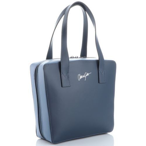 44181dd98715a modne i oryginalne firmowe torebki skórzane made in italy  granatowe błękitne (kolory) marki Vittoria gotti 269