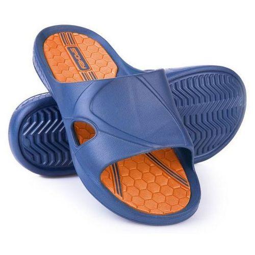 Klapki basenowe orbit granatowo-pomarańczowy (rozmiar 43) marki Spokey