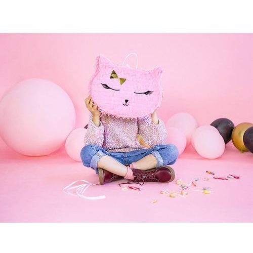 Partydeco Piniata różowy kotek (5900779117174)