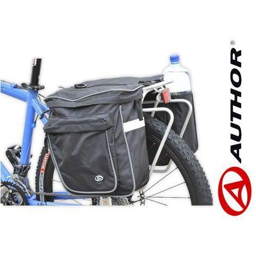15-000016 Sakwy na bagażnik AUTHOR CARGO 20l czarne z pokrowcem - produkt z kategorii- sakwy, torby i plecaki rowerowe