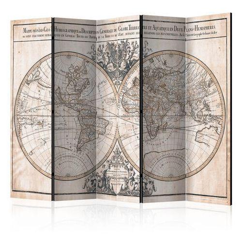 Parawan 5-częściowy - Mappe-Monde Geo-Hydrographique [Room Dividers] bogata chata, A0-PARAVENT108