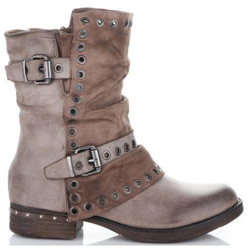 f457c0d61dbe1 Modne i Firmowe Botki Damskie Lady Glory buty na każdą okazję wykonane z wysokiej  jakości skóry ekologicznej Khaki (kolory) 149,00 zł Uniwersalne botki ze ...