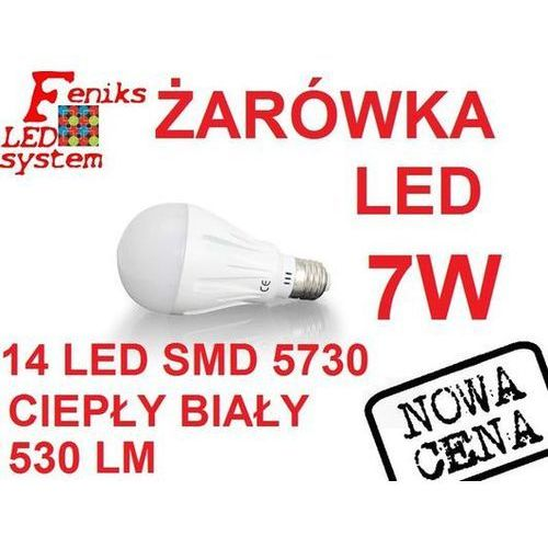 Żarówka LED E27 5730 14LED 7W ciepła CCD EPISTAR, FLS00230