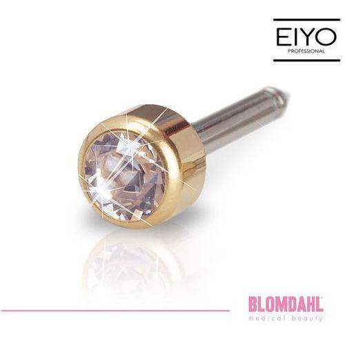 Kolczyk do przekłuwania uszu - bezel crystal 4 mm w kolorze złota marki Blomdahl