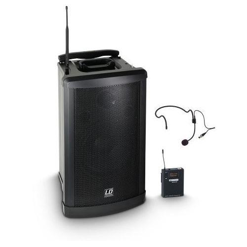 roadman 102 hs b6 (655 - 679 mhz) przenośny zestaw nagłośnieniowy z mikrofonem bezprzewodowym nagłownym marki Ld systems