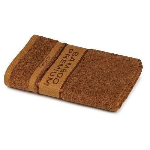 4home ręcznik kąpielowy bamboo premium brązowy, 70 x 140 cm, 70 x 140 cm