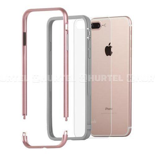 Moshi Luxe - Aluminiowy bumper iPhone 7 Plus (Rose Pink), kolor różowy