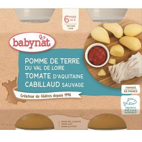 Babybio Danie mix warzyw z dorszem od 6 miesiąca bezglutenowe 2x200 g (3288131510071)