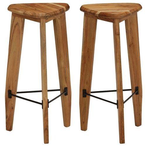 Vidaxl Krzesła barowe z litego drewna akacjowego, 2 szt., trójkątne