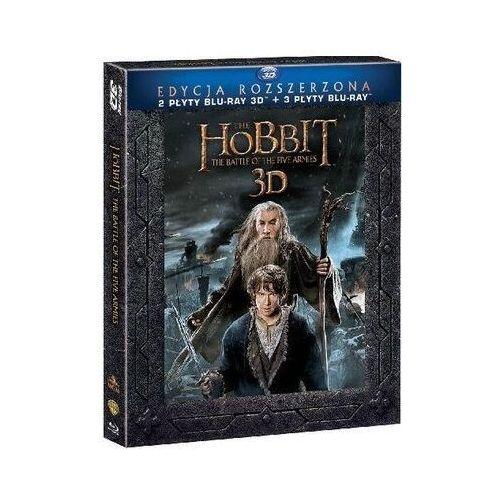 Hobbit: Bitwa Pięciu Armii - Wydanie rozszerzone (5 Blu-ray, wersja 3D)