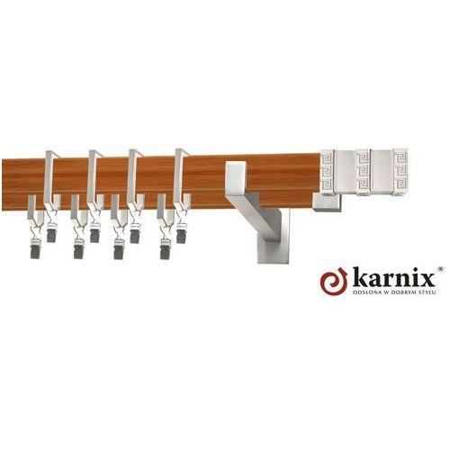 Karnisz Apartamentowy Errano podwójny 31x13/31x13mm Rotello Chrom mat - calvados - oferta [351c4170c755941d]
