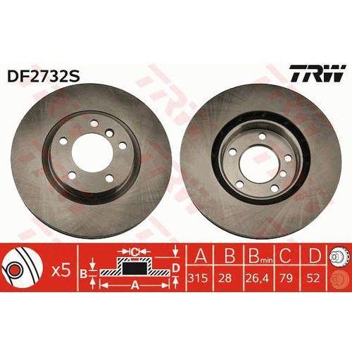 TARCZA HAM TRW DF2732S BMW E36 M3 3.0 94-95, 3.2 95-98, Z3 M 3.2 01-03 PRZÓD PRAWY (3322937335268)