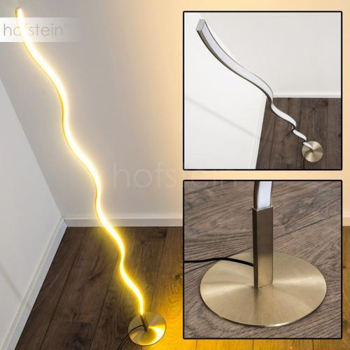 Dillon Lampa stojąca LED Nikiel matowy, 1-punktowy - Design - Obszar wewnętrzny - Dillon - Czas dostawy: od 3-6 dni roboczych