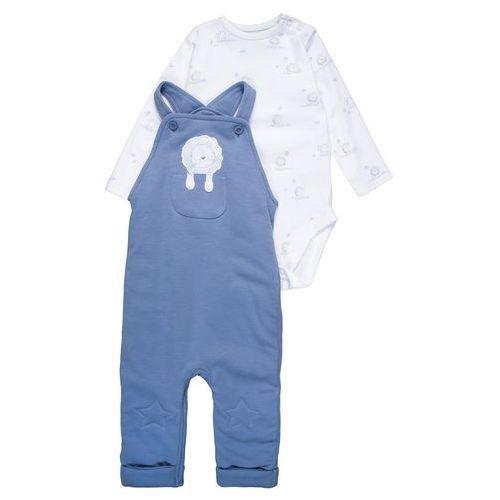 mothercare INTERLOCK WADDED STAR KNEE DUNGAREE BABY SET Body blue (5021463690558)