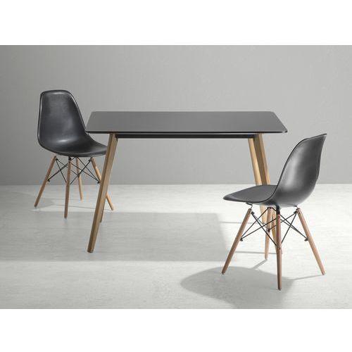 Stól do kuchni, jadalni lub salonu - czarny - 120x80 cm - FLY - produkt z kategorii- stoły kuchenne