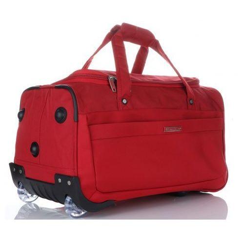 f3b00360b3725 ... firmowa torba podróżna na kółkach ze stelażem czerwona ...