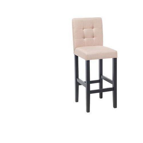 Hoker beżowy - krzesło - do jadalni - do kuchni - tapicerowany - MADISON (7081458122301)