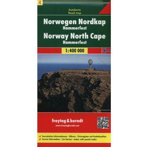 Norwegia. Część 4 - Nordkapp HAMMERFEST. Mapa 1:400 000, oprawa twarda