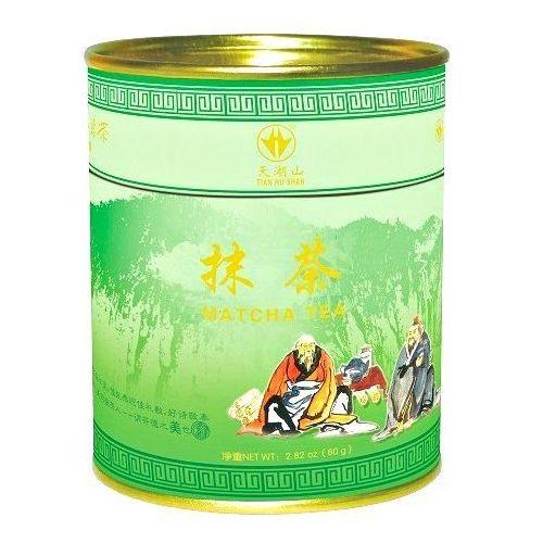 Matcha, sproszkowana zielona herbata w puszce 80g - marki Tian hu shan