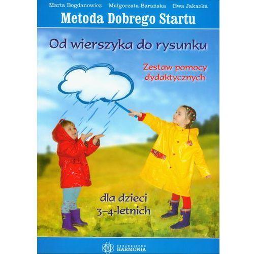 Od wierszyka do rysunku 3-4 lat zestaw pomocy dydaktycznych (64 str.)