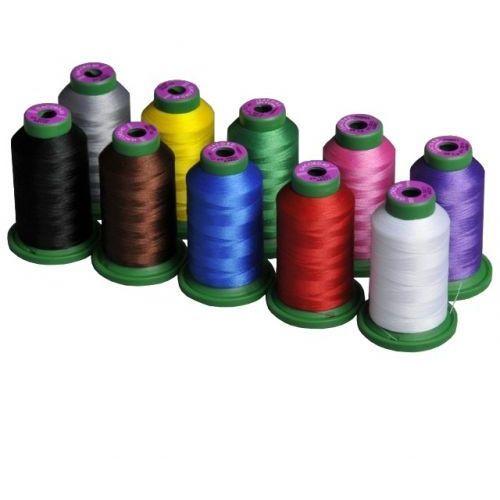 Zestaw 10 nici do haftu maszynowego Amann Isacord kolorowe - 1000m / szt, 10 nici do haftu Isacord