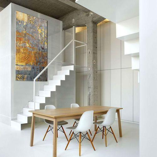 Pracownia art.&texture Ekskluzywne bardzo duże obrazy do salonu lub sypialni - złoto i niebieski