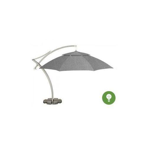 Parasol ogrodowy Ibiza 3,5m Sunbrella z podstawą (3757) + oświetlenie, LITEX Promo Sp. z o.o. z Litex Garden