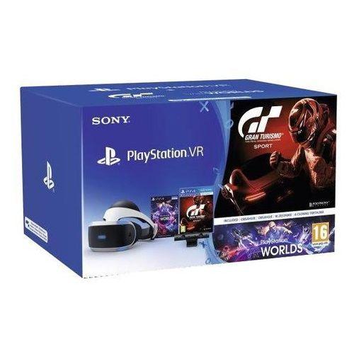 Sony playstation vr + playstation 4 camera v2 + gran turismo sport + vr worlds - produkt w magazynie - szybka wysyłka!