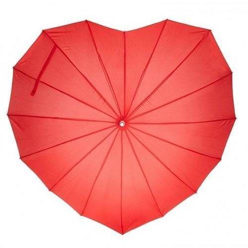 Dp Parasol w kształcie serca czerwony - 1 szt.