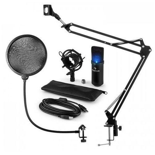 Mic-900b-led usb zestaw mikrofonowy v3 mikrofon pojemnościowy pop filtr ramię sterujące do mikrofonu led marki Auna