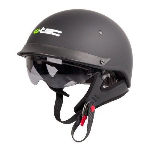 W-tec Kask motocyklowy otwarty chopper skuter ap-84, matt.czarny, xl (61-62) (8595153699758)