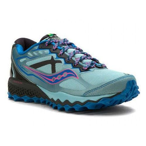 Saucony peregrine 6 - damskie buty do biegania w terenie (niebieski)