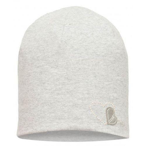 Broel dziewczęca czapka Basic z sercem 45 szary, kolor szary
