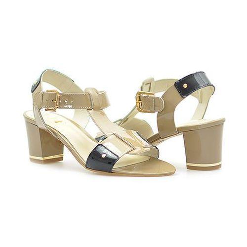 Sandały AJF G0897 Beżowe, kolor beżowy