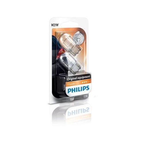 ZESTAW 2x Żarówka samochodowa Philips VISION 12065B2 W21W W3x16d/21W/12V (8727900701463)