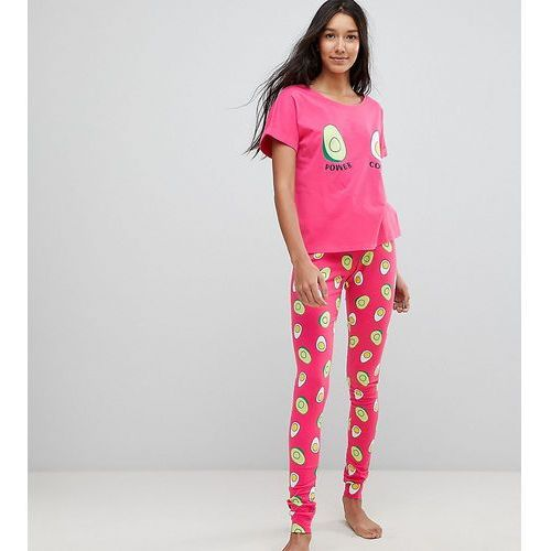 avocado and egg power couple tee and legging pyjama set - multi, Asos tall