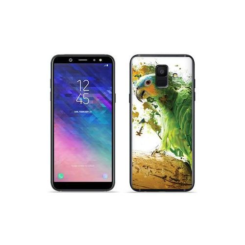 Etuo foto case - samsung galaxy a6 (2018) - etui na telefon foto case - zielona papuga marki Etuo.pl