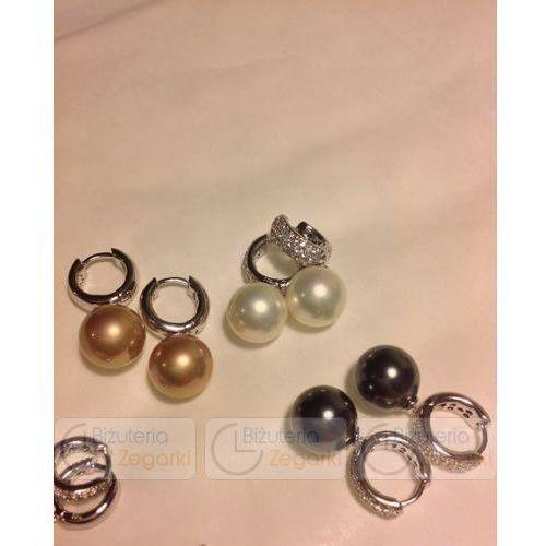 Fc kolczyki z perłą wiszące 3061221029 pm 12 kolor czarna perła marki Florenzo castello