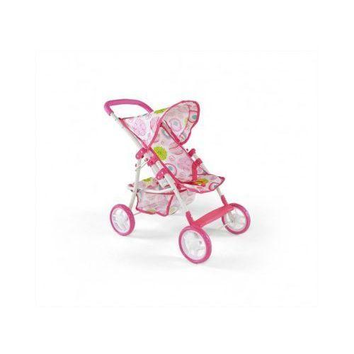 Wózek dla lalek NATALIA zabawka różowo-biały, Milly Mally z Dwa Niedźwiadki