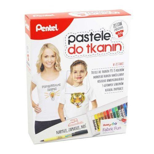 Kredki Pastele do tkanin 15 kol. z koszulką PENTEL (5902894020063)
