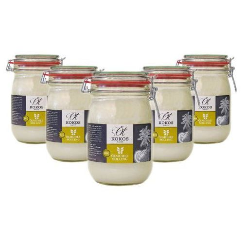 BIO Olej Kokosowy na zimno tłoczony 1000 ml - ZESTAW x 5