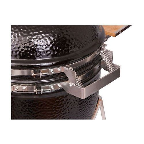 Grill ceramiczny Monolith JUNIOR, czarny lub bordowy, ruszt 33 cm, produkt marki Monolith (Niemcy)