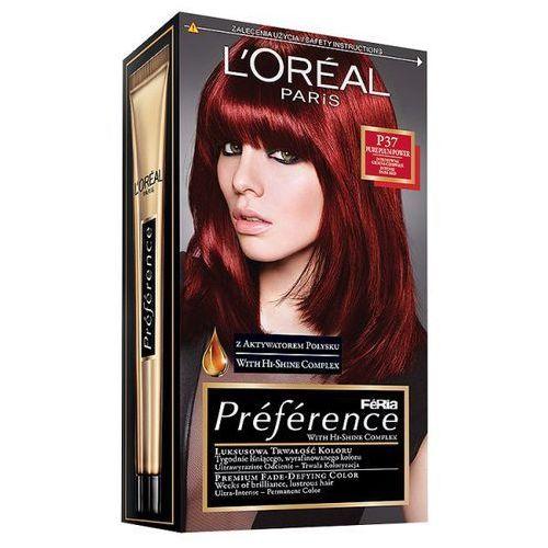 Farba do włosów Feria Preference - P37 Intensywna Ciemna Czerwień, L'Oréal