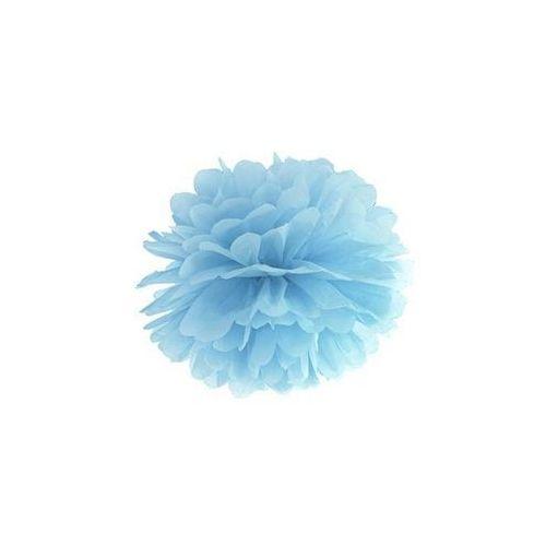 Dekoracja wisząca pompon kwiat - jasnomglistoniebieska - 25 cm - 1 szt.