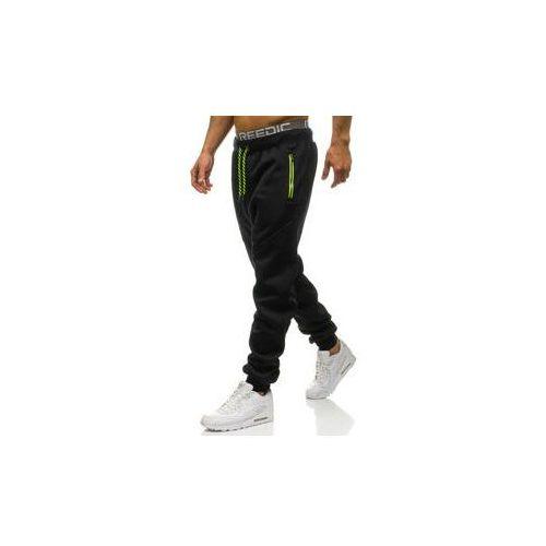 Spodnie męskie dresowe joggery czarne denley 1928, T&c star