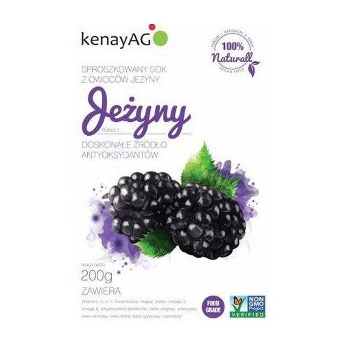 Jeżyny - sproszkowany sok 200g marki Kenay ag