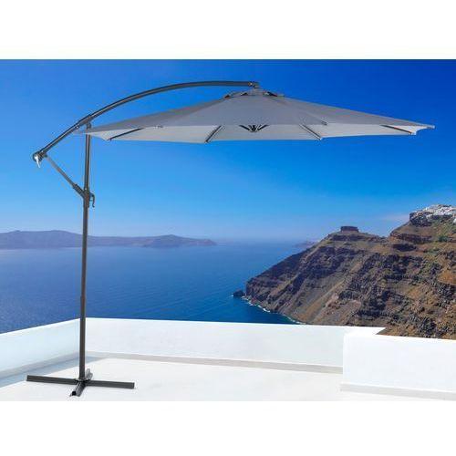 Parasol ogrodowy – antracytowy – ø 293 cm – na wysiegniku – metalowy - RAVENNA - produkt z kategorii- parasole ogrodowe