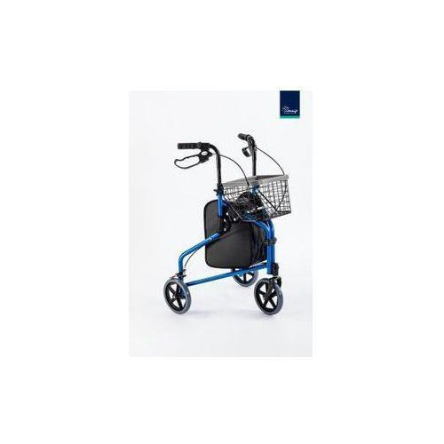 Chodzik aluminiowy trójkołowy torba, koszyk