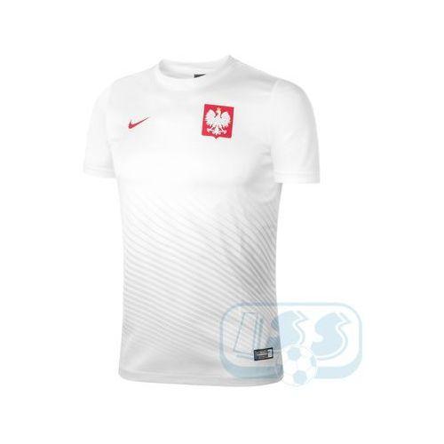 Dpol67j: polska - koszulka junior marki Nike