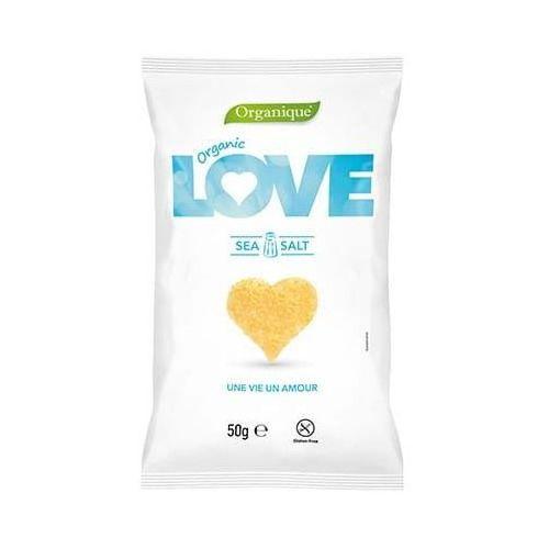 Cibi Chrupki kukurydziane love z solą morską bezglutenowe bio 50 g organique (8588004638716)